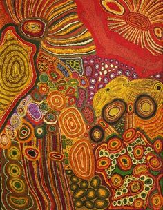 Rini Tiger Ngintaka Tjukurpa (Perentie Man Creation Story), 2013 Acrylic on… Aboriginal Painting, Aboriginal Artists, Dot Painting, Encaustic Painting, Indigenous Australian Art, Indigenous Art, Australian Artists, Arte Tribal, Tribal Art