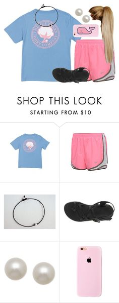 """Bored..."" by chevron-volleyball ❤ liked on Polyvore featuring NIKE, Chaco, Honora and Vineyard Vines"