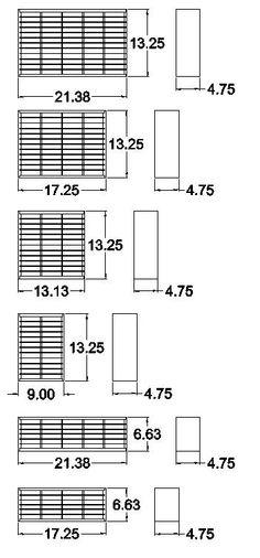 Ink pad holder stamp pad storage dimensions