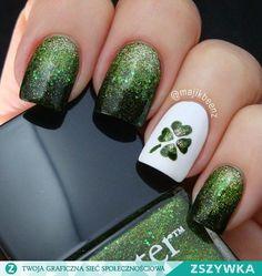 Zobacz zdjęcie Najmodniejsze zielone paznokcie na wiosnę! ->> zrób sama te wzorki-->> w pełnej rozdzielczości