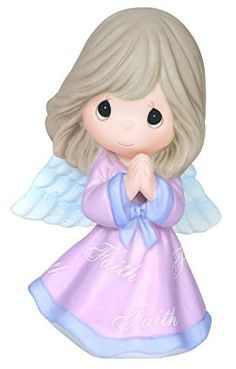 Item Number: 144022 Dimensions: 2.95 x 2.36 x 4.65 inches A strong, abiding faith can make you feel as though you have wings! With hands joyously clasped in prayer, this lovely angel gives thanks for