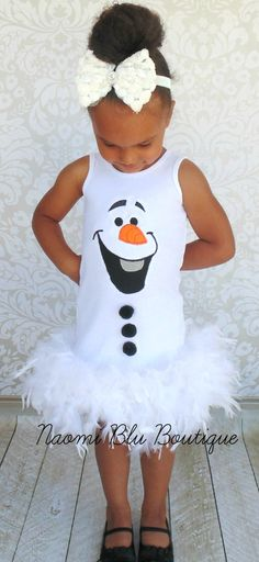Disney Inspired Frozen Olaf Feather Dress. Great for by NaomiBlu, $49.00