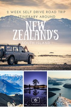2 week self drive road trip itinerary around New Zealand's South Island #NewZealand #Roadtrip