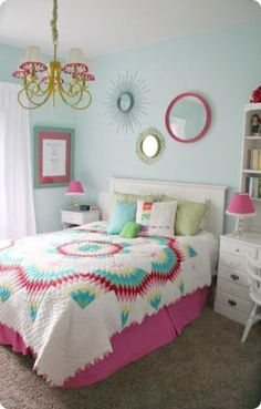 35+ Sweet Colorful Bedroom Decor Ideas