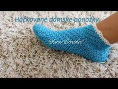 Dámske háčkované ponožky - YouTube