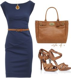 Navy DVF Dress, created by styleofe on Polyvore