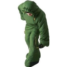 wearable sleeping bag... i kind of want this. there is never enough wiggle room in traditional mummy bags. can't do it.