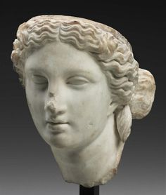 Head of AphroditeRoman, Imperial Period, Antonine, about A.D. 138–192 Museum of Fine Arts, Boston