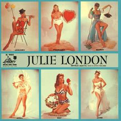 Julie London, Singer, actress, 50's pinup images. This was my Dad's favorite album...I still have it.