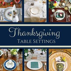 Whether your Thanksgiving will be modern and casual, or refined and traditional, you'll be inspired by our complete collection of stunning table settings.