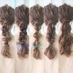 Messy pony tails for summer days Work Hairstyles, Summer Hairstyles, Pretty Hairstyles, Wedding Hairstyles, Bridal Hairdo, Hair Arrange, Hair Setting, Japanese Hairstyle, How To Make Hair