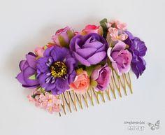 peinecillo-de-flamenca-o-fiesta-PP36 Cute Girls Hairstyles, Flower Girl Hairstyles, Pretty Hairstyles, Diy Flowers, Flowers In Hair, Bridal Headpieces, Bridal Hair, How To Preserve Flowers, Ribbon Hair
