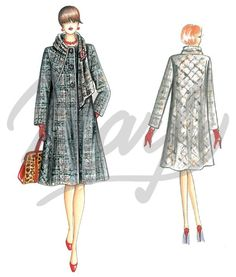 Our Patterns :: Marfy Collection 2014/2015 :: Autumn/Winter :: Sewing Pattern 3476 -