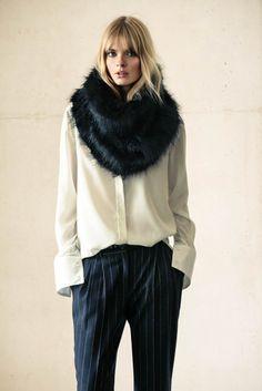 mango winter catalog12 Julia Stegner Wears the Menswear Trend for Mangos Winter Catalogue