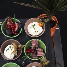 Enjoying a range of little bites on the FLOWER POTS  #crockery #ceramic #ceramics #porcelain #FinePorcelain #china #BoneChina #chinaware #collection #kitchenware #KitchenEquipment #plate #plates #DinnerPlate #bowl #bowls #cup #cups #dish #dishes #holloware #risers #ItalianTableware #cookware #barware #glass #glassware #DiningStyle #GreatPlates #MainPlate