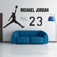b648a2fe4ab Hot Michael Jordan Eco friendly Removable PVC Decal Boy Bedroom Home Decor Art  Wall Stickers + Transfer Film Favor Mural Gift-in Wall Stickers from Home  ...