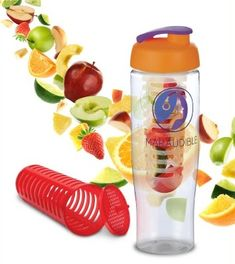 Tempo Sports Bottle - Flip Lid with Fruit Infuser. Great shape bottle with a fruit infuser too! Fruit Infuser Bottle, Top Water Bottles, Build Your Brand, Healthy Drinks, Summer Fun, Shapes, Sports, Hs Sports, Summer Fun List
