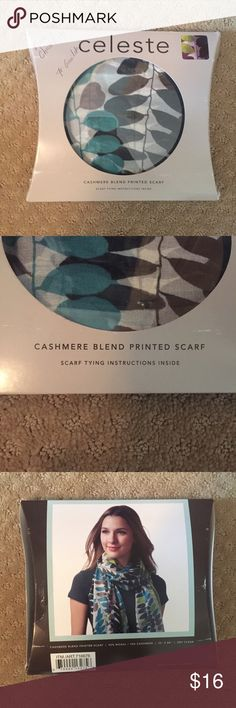 Cashmere Blend Scarf NIB, this scarf has never been worn or taken out of its packaging. There is some writing on the box because it was given to me as a Christmas present. There are instructions inside on different ways you can tie the scarf also. Accessories Scarves & Wraps