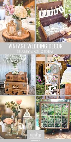 Shabby & Chic Vintage Wedding Decor Ideas ❤ Our gallery contains many…