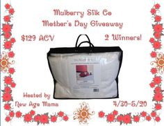 Mulberry Silk Co Mother's Day Giveaway { 2 WINNERS   US   Ends 05/20} - Pink Ninja Blogger