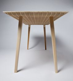 Value through structure: Wooden table by Ruben Beckers weighs just 4.5 kilograms