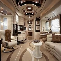 Tour Bus Interior Motorhome Living Trailer Yacht