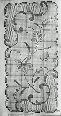 Crochet And Arts: Filet Crochet Wipes Filet Crochet Charts, Crochet Cross, Crochet Art, Thread Crochet, Crochet Flower, Crochet Dollies, Crochet Doily Patterns, Crochet Motif, Crochet Designs