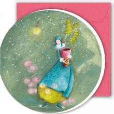 "Gaëlle Boissonnard round greeting card 16 cm ""Le sapin en pot"""