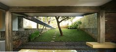 Image 5 of 16 from gallery of Wisnu & Ndari House / djuhara + djuhara. Photograph by djuhara + djuhara Space Architecture, Amazing Architecture, Steel House, Real Estate Houses, Outdoor Spaces, Interior And Exterior, My House, Farm House, Pergola