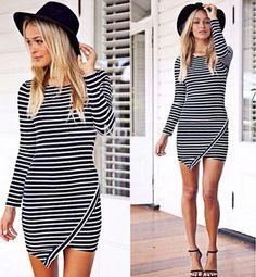 cac9c334d31 Asymetrické tričkové šaty Dress Vestidos