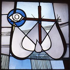 Georg Meistermann (1961)  Krefeld-Uerdingen, Evang. Gemeindehaus Source Of Inspiration, Cathedrals, Stained Glass Windows, Tiffany, Glass Art, Projects To Try, Spaces, Contemporary, Windows