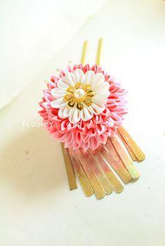 kanzashi-kanzashi flower-janpanese kanzashi-kanzashi от KKAIBRIDE