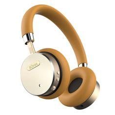 Gold Tan Noise-Canceling Wireless Headphones by BÖHM