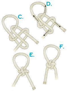 How to tie a Japanese success knot alles für Ihren Erfolg - www. Rope Knots, Macrame Knots, Survival Knots, Knot Braid, The Knot, Rope Crafts, Micro Macramé, Jewelry Knots, Fishing Knots