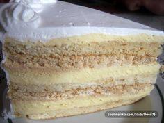 Torte Recepti, Kolaci I Torte, Baking Recipes, Cookie Recipes, Dessert Recipes, Just Desserts, Delicious Desserts, Sweet Cooking, Torte Cake