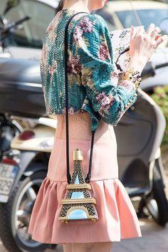 fashion, paris, colour, purse, style