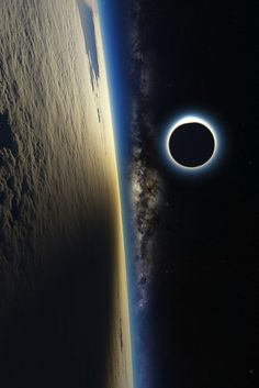 Eclipse from near Earth orbit. Nice!