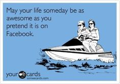 Reality vs. Facebook.