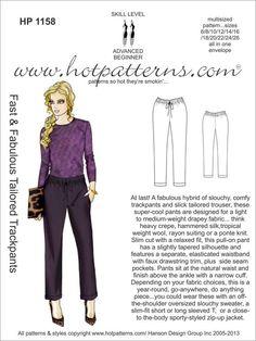 DIY Pants Pattern Review: Hot Pattern 1158 Color Me Fall!