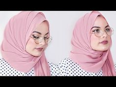 3 Hijab Styles for Glasses - Video Tutorial - Hijab Fashion Inspiration Simple Hijab Tutorial, Hijab Style Tutorial, Hijab Fashion Inspiration, Style Inspiration, Glasses For Round Faces, Video Hijab, Pashmina Hijab Tutorial, Turban Hijab, Hijab Stile