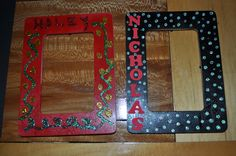 Hollywood Birthday Party - craft - each kid could make a frame and a picture from their red carpet walk was sent with the thank you note.  I had them spray painted red and black ahead of time.