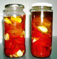 Tertúlia dos encantos: Conserva de Pimentos Assados Yams, Mason Jars, Cooking, Food, Roasted Red Peppers, Pickles, Spices, Tailgate Desserts, Veg Recipes