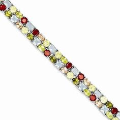 Play with fashion play with colors with this Sterling Silver 7inch Multi-colored CZ Bracelet - $158.00 from IceCarats.com. Use code INSTALOVE for 10% discount.  #icecarats #jewelry #fashion #accessories #jewelryjunky #latestfashion #trending #fashiontrends #affordablefashion #lookbook #fashionbloggers #bloggerstyle #bestseller #instaglam #instastyle #jewelrylover #streetstyle #jewelrytrends #dailyinspo #romantic #fashionkilla #fashionstory #hollywood #classy #jewelryaddiction #gemstone…