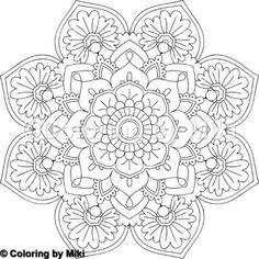 Flower Mandala Coloring Page #2