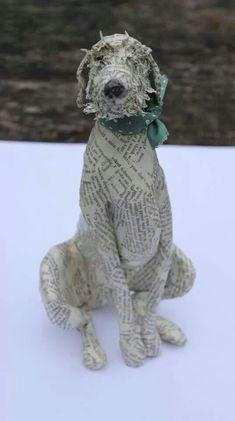 30 Ideas dogs art diy paper mache for 2019 Paper Mache Projects, Paper Mache Clay, Paper Mache Sculpture, Paper Mache Crafts, Dog Sculpture, Animal Sculptures, Sculpture Ideas, Origami, Paper Mache Animals