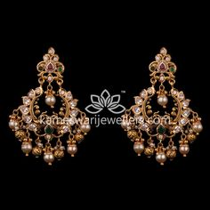 Mesmerizing collection of gold earrings from Kameswari Jewellers. Shop for designer gold earrings, traditional diamond earrings and bridal earrings collections online. Gold Jhumka Earrings, Indian Jewelry Earrings, Gold Bar Earrings, Jewelry Design Earrings, Gold Earrings Designs, Gold Jewellery Design, Buy Earrings, Earrings Online, Gold Jewelry