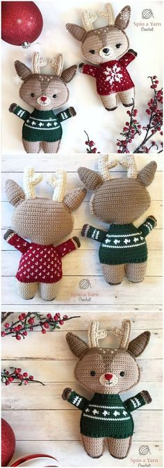 Here we have shared a grand list of free crochet amigurumi patterns that all makes perfect cuddly toys and can also be used as best lovey to your babies!Deer Free Crochet Pattern