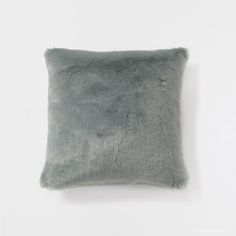 SEA GREEN FAUX FUR CUSHION - Decorative Pillows - Decor and pillows - NEW COLLECTION | Zara Home United States