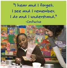The importance of hands-on activities. Teaching Children Quotes, Learning Quotes, Education Quotes For Teachers, Teacher Quotes, Quotes For Students, Teacher Humor, Elementary Education, Quotes For Kids, Teaching Kids