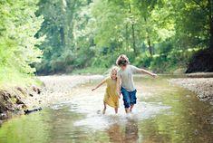 playing in creek